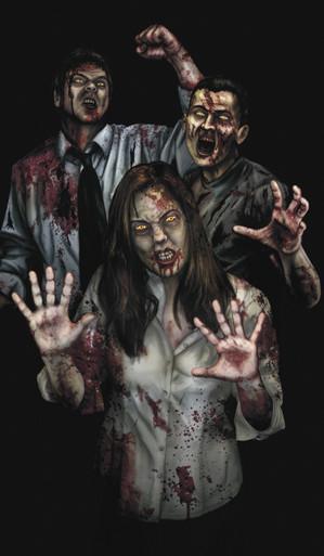 Suzie's Revenge Zombie Halloween Window Poster Decorations