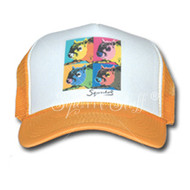 SqWarhol Yellow Trucker Hat | Squirrel Hat