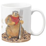 So Much Seed, So Little Time Mug | Funny Squirrel