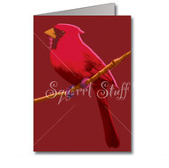 Red Candy Cardinal Note Cards | Boxed set of 8