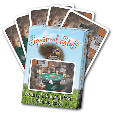 Squirrels Playing Poker Playing Cards