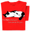 Ask Not Cat T-shirt (red)