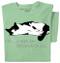 Ask Not Cat T-shirt (green)