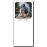 Zebra Squirrel Notepad