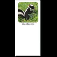 Skunk Squirrel Notepad