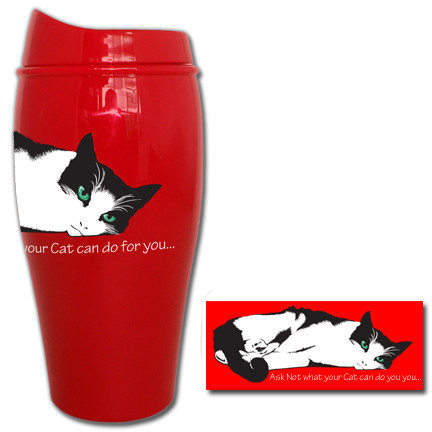 Ask not what your cat can do for you... Tumbler | Travel Mug