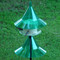 Emerald green SkyCafe bird feeder and squirrel-away pole mount baffle kit