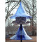 Sapphire blue SkyCafe bird feeder and squirrel-away pole mount baffle kit