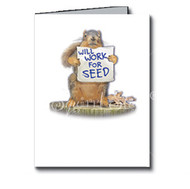 Will Work for Seed Birthday Card