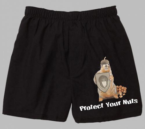 Black Cotton Boxer | Protect Your Nuts | sizes M - XL
