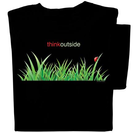 Organic Cotton Ladybug in the Grass T-shirt   ThinkOutside