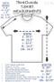 Pure Cotton Dandelion   ThinkOutside Unisex T-shirt Size Chart