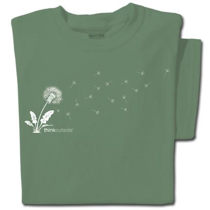 Pure Cotton Dandelion T-shirt   ThinkOutside