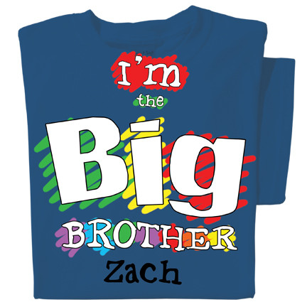 Big Brother Personalized Youth Kids T-shirt