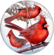Cardinal Sandstone Ceramic Coaster  | Front