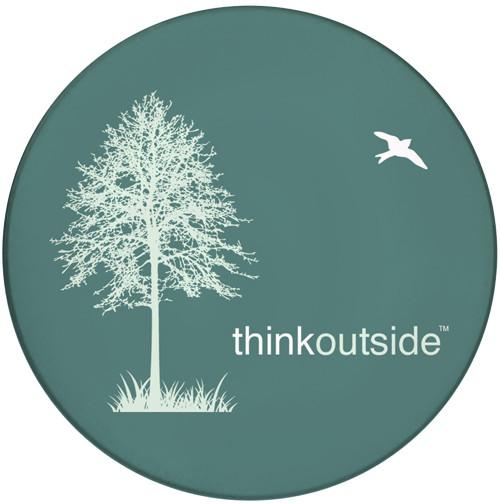 Think Outside Tree Sandstone Ceramic Coaster | Front