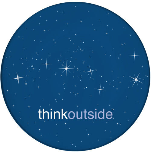 ThinkOutside Stars Sandstone Ceramic Coaster | Big Dipper Constellation | Front