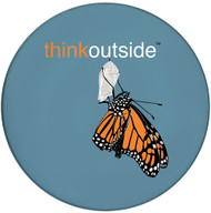 ThinkOutside Monarch Ceramic Coaster | Front