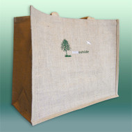 Large ThinkOutside Jute Tote Bag