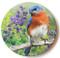 Summer Bluebird Sandstone Ceramic Coaster  | Front
