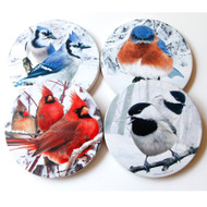 Winter Sandstone Coaster Collection | Set of 4