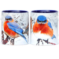 Winter Bluebird Mug | Jim Rathert Photography