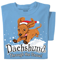 Dachshund through the Snow T-shirt | Santa Dog Tee