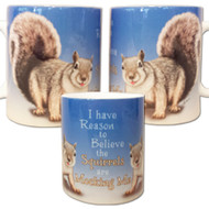 I have reason to believe the squirrels are mocking me mug