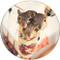 Stocking Stuffer Sandstone Ceramic Coaster | Christmas Coaster | Front