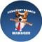 Assistant Branch Manager Corgi Sandstone Ceramic Coaster | Dog Coaster | Front