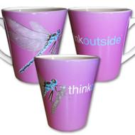 Dragonfly Latte Mug | Think Outside | 12 oz. ceramic