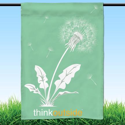 ThinkOutside Dandelion Garden Flag