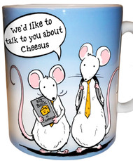 We'd like to talk to you about Cheesus Mug