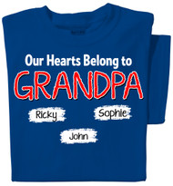 Our Hearts Belong to Grandpa Personalized T-shirt