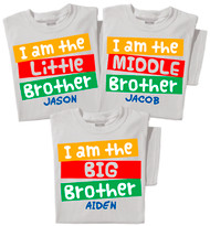 I'm the Little / Middle / Big Brother Toddler & Youth Kids T-shirt