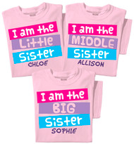 I'm the Big / Middle / Little Sister Personalized Toddler & Youth T-shirt