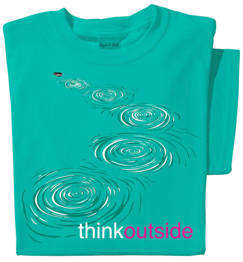 Organic Cotton Stone Skip Ladies T-shirt   ThinkOutside t