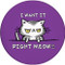 I want it Right Meow Sandstone Ceramic Coaster | Funny Cat Coaster