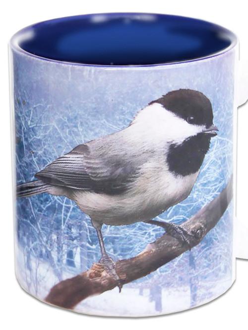 Chickadee in Snow   Chickadee Mug