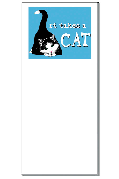 It Takes a Cat Notepad | 50 Sheets | Magnetic Shopping List