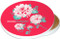 Think Outside Clover Flower | Ceramic Coaster | Moisture Proof | Spiced Poppy Pink | Image shows front and cork back