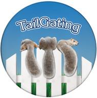 Tailgating Squirrel Sandstone Ceramic Coaster | Front