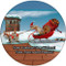 Christmas Sleigh Squirrels Sandstone Ceramic Coaster | 4pack | Christmas Coasters | Front