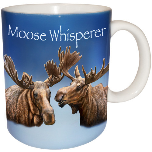 Moose Whisperer Mug | Cool Moose Coffee Mug