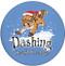 Dashing Through the Snow Squirrel Sandstone Ceramic Coasters   4pack   Front