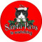 Santa Paws Sandstone Ceramic Coasters   Front
