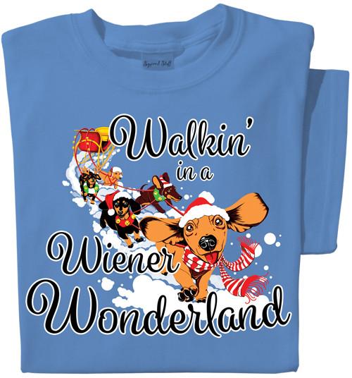 Walkin' in a Wiener Wonderland | Dachshund T-shirt