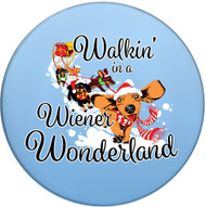 Walkin' in a Wiener Wonderland Dachshund Coasters | Front