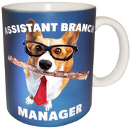 Assistant Branch Manager Corgi Mug | Funny Dog Mug