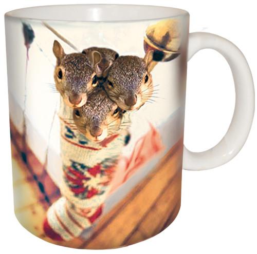 Stocking Stuffer Squirrel Mug | Christmas Mug